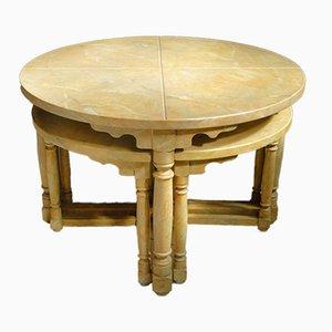 Table Basse et 4 Tabourets Antiques