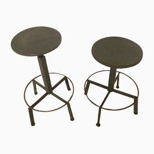 Vintage Italian Swivel Stools, 1970s, Set of 2
