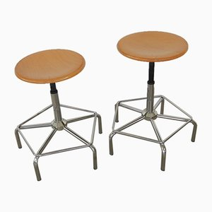 Vintage Italian Swivel Stools, 1980s, Set of 2