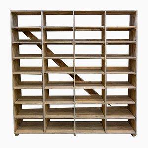 Large Wooden 32 Shelf Unit, 1930s