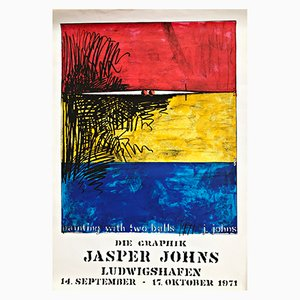 Affiche Painting with Two Balls par Jasper Johns, 1971
