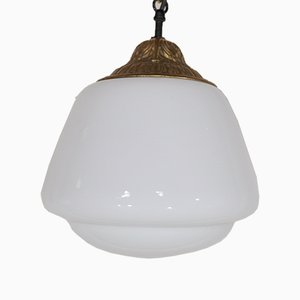 Opaline Ceiling Lights, 1950s, Set of 4