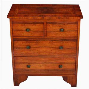 Small Art Deco Walnut Chest of Drawers