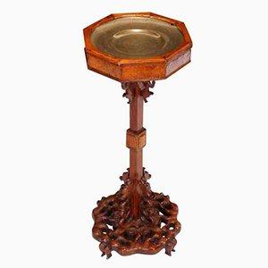 Soporte chino vintage pequeño de madera, años 20
