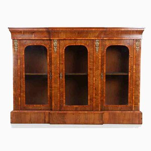 Antique Inlaid Walnut Credenza