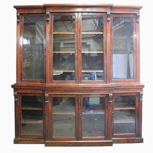 William IV Rosewood Breakfront Library Bookcase