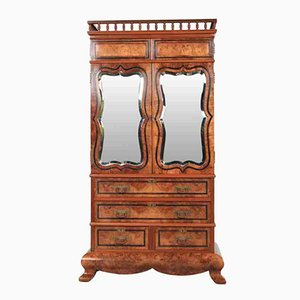 Antique Walnut Cabinet on Stand, 1870s
