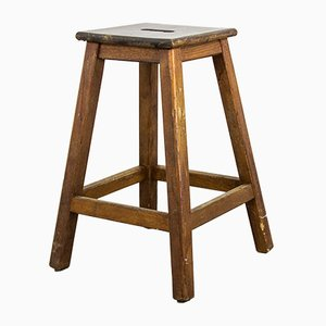 Vintage Wooden Stool, 1950s