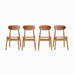Eva Dining Chairs by Sven Erik Frylund for Hagafors, 1962, Set of 4