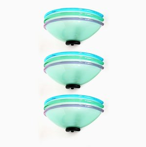 Wandlampen aus Muranoglas, 1980er, 3er Set