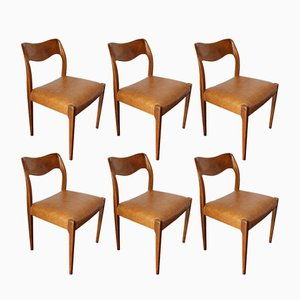 Dining Chairs by Niels Otto Møller for J.L. Mollers, 1950s, Set of 6