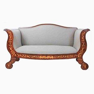 Canapé en Marqueterie de Noyer, Pays-Bas, 1780s