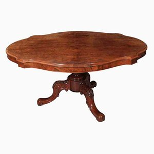 Antique Burr Walnut Breakfast Dining Loo Table