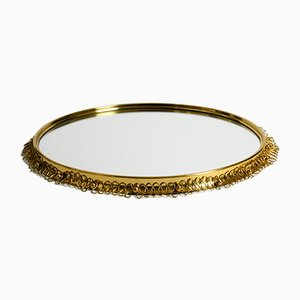 Mid-Century Modern Brass Wall Mirror by Josef Frank for Svenskt Tenn