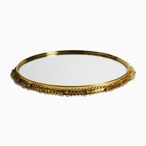 Mid-Century Modern Brass Wall Mirror by Josef Frank for Svenskt Tenn