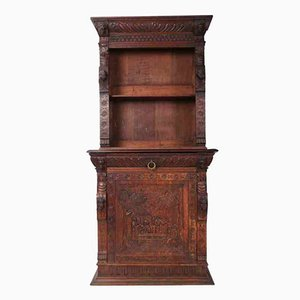 Carved French Oak Bookcase, 1880s