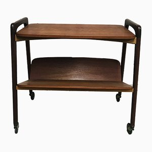 Vintage Teak Trolley with Magazine Rack from Opal Kleinmöbel, 1960s