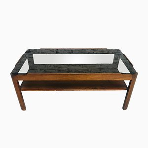 Vintage Teak & Smoked Glass Coffee Table from G-Plan
