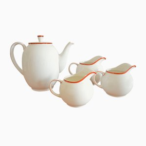 Mod. 1382 Coffee Set by Hermann Gretsch for Arzberg, 1931, Set of 4