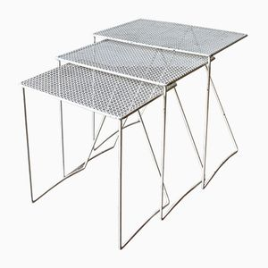 Vintage Nesting Tables by Matthieu Mategot, 1950s