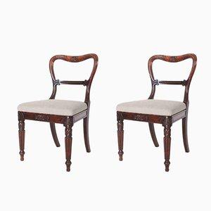 Sedie antiche in palissandro, set di 2