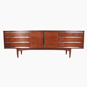 Mid-Century Rosewood and Teak Sideboard From Royal Heritage Furniture