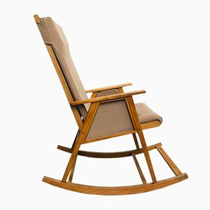 Rocking Chair Mid-Century en Teck, 1960s