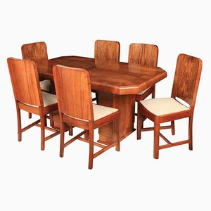 Art Deco Set With 6 Chairs & Dining Table