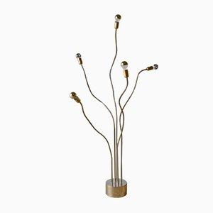 Lámpara de pie Quintet cuello de ganso, años 70