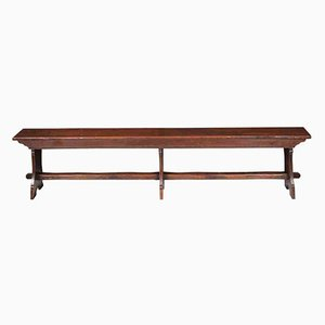 Antique Solid Oak Bench