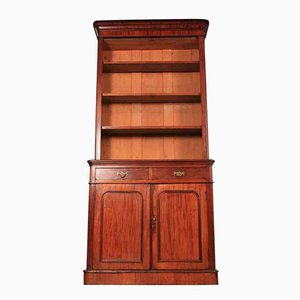 Tall Mahogany Open Top Bookcase, 1860s