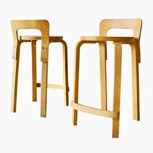 Vintage K65 High Chairs by Alvar Aalto for Artek, 1960s, Set of 2