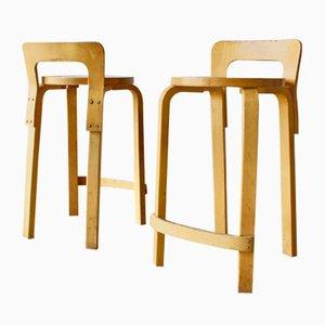 Vintage K65 High Chairs von Alvar Aalto für Artek, 1960er, 2er Set