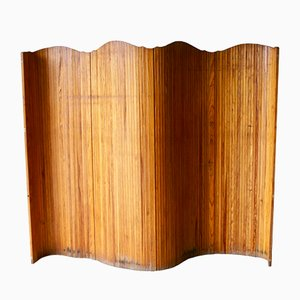 Tambour Screen Room Divider, 1940s