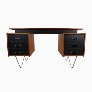 Teak Desk with Hairpin Legs by Cees Braakman for Pastoe, 1950s