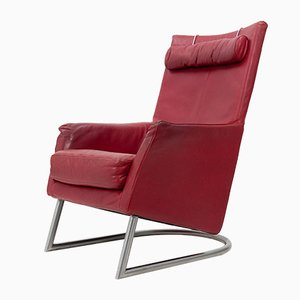 Red Leather Madonna Lounge Chair by Gerard van der Berg for Montis, 1984