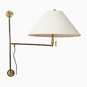 Brass Swivel Arm Wall Lamp, 1964