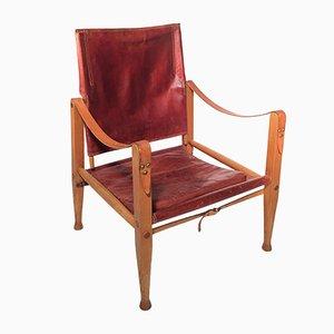 Chaise Safari par Kaare Klint pour Rud. Rasmussen, 1960s
