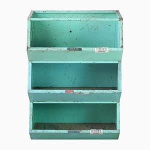 Contenitori impilabili vintage in metallo, set di 3
