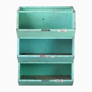 Vintage Stackable Metal Storage Bins, Set of 3