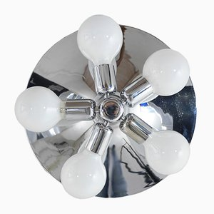 Chromed Ceiling Or Wall Lamp From Hustadt Leuchten, 1970s