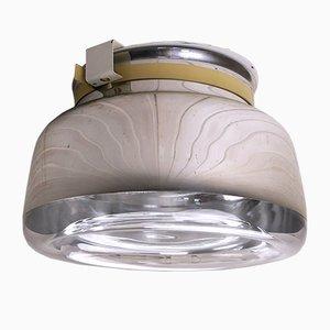 Runde Deckenlampe aus Glas von Interferenz Licht & Lichtdeckensysteme, 1970er
