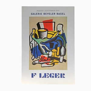 Affiche d'Exposition Fernand Léger Vintage, 1969
