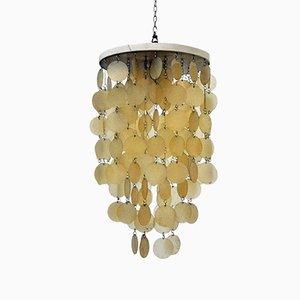 Lámpara de araña italiana Mid-Century de Abat-Jour, años 60