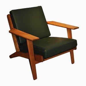 Modell GE290 Sessel mit Gestell aus Eiche von Hans Wegner für Getama, 1950er