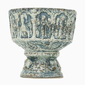Cuenco danés Mid-Century de cerámica de Michael Andersen & Sons, años 60