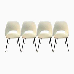 Esszimmerstühle aus Skai & Eisen, 1950er, 4er Set