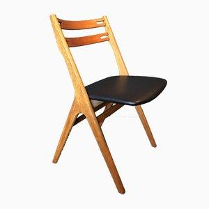 Esszimmerstühle aus Eiche & Sitz aus Leder von Arne Vodder für Sibast, 1950er, 6er Set