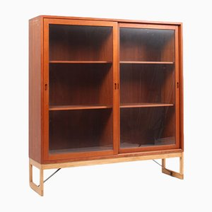 Mid-Century Teak & Oak Display Cabinet by Børge Mogensen for Karl Andersson & Söner