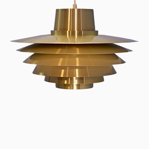Large Danish Verona Pendant by Svend Middelboe for Nordisk Solar, 1960s